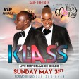 KLASS LIVE MOTHER'S DAY MAY 31 2020 - David